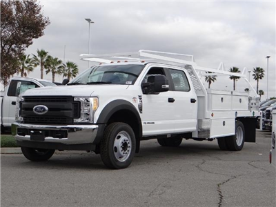 2017 F-450 Crew Cab DRW, Scelzi Contractor Flatbed Contractor Body #FH6304 - photo 1