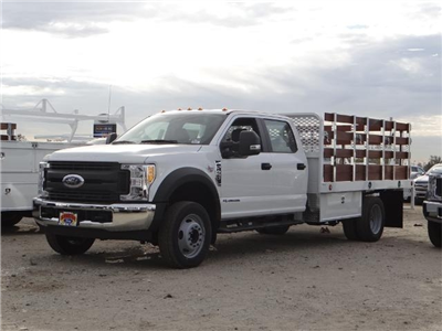 2017 F-450 Crew Cab DRW, Scelzi Western Flatbed Stake Bed #FH6312 - photo 1