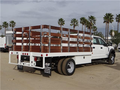 2017 F-450 Crew Cab DRW, Scelzi Western Flatbed Stake Bed #FH6312 - photo 4