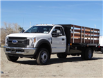2017 F-550 Regular Cab DRW, Harbor Stake Bed #FH6348 - photo 1