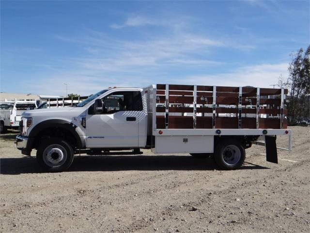 2018 F-550 Regular Cab DRW 4x2,  Scelzi Stake Bed #FJ2070 - photo 3