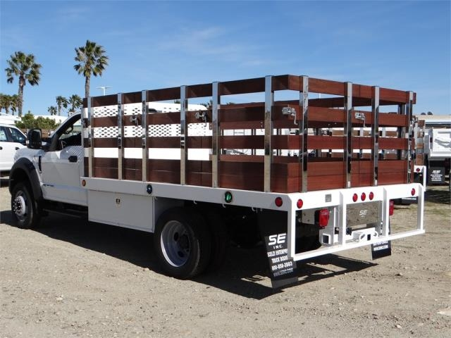 2018 F-550 Regular Cab DRW 4x2,  Scelzi Stake Bed #FJ2070 - photo 2