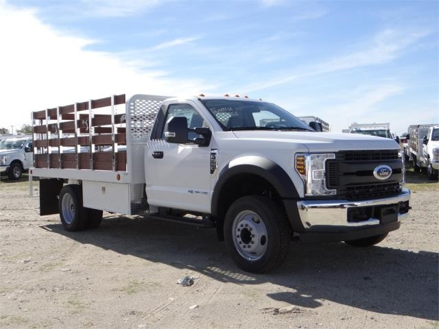 2018 F-550 Regular Cab DRW 4x2,  Scelzi Stake Bed #FJ2070 - photo 6