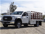 2018 F-550 Regular Cab DRW 4x2,  Scelzi Stake Bed #FJ2070 - photo 1