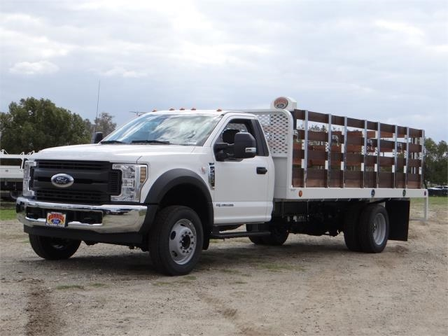 2018 F-550 Regular Cab DRW 4x2,  Scelzi Western Flatbed Stake Bed #FJ2272 - photo 1