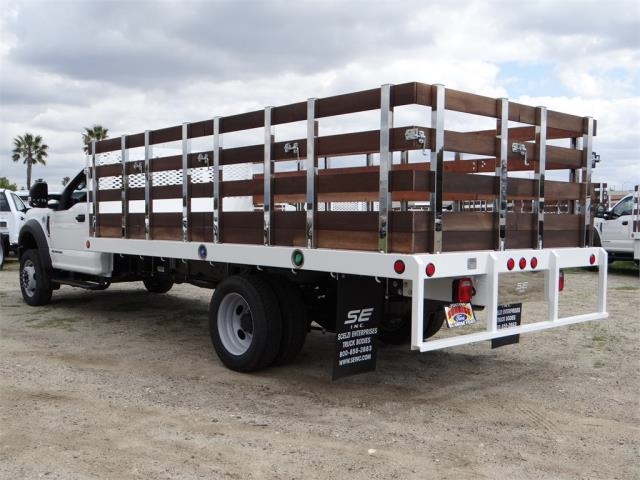 2018 F-550 Regular Cab DRW 4x2,  Scelzi Western Flatbed Stake Bed #FJ2272 - photo 2