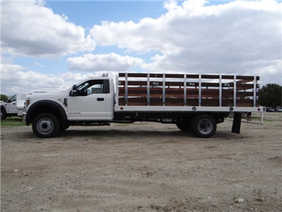2018 F-550 Regular Cab DRW 4x2,  Scelzi Western Flatbed Stake Bed #FJ2272 - photo 3
