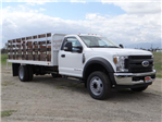2018 F-550 Regular Cab DRW 4x2,  Scelzi Western Flatbed Stake Bed #FJ2272 - photo 6