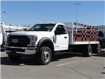 2018 F-550 Regular Cab DRW 4x2,  Scelzi Stake Bed #FJ2468 - photo 1