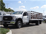 2018 F-550 Regular Cab DRW 4x2,  Scelzi Stake Bed #FJ2479 - photo 1