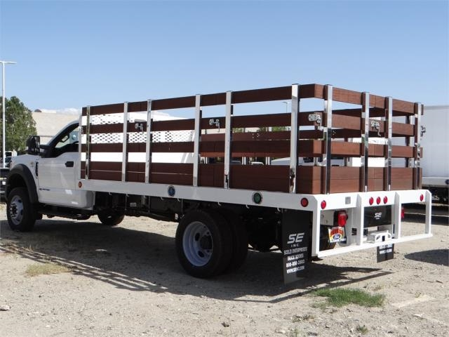 2018 F-550 Regular Cab DRW 4x2,  Scelzi Stake Bed #FJ2558 - photo 2