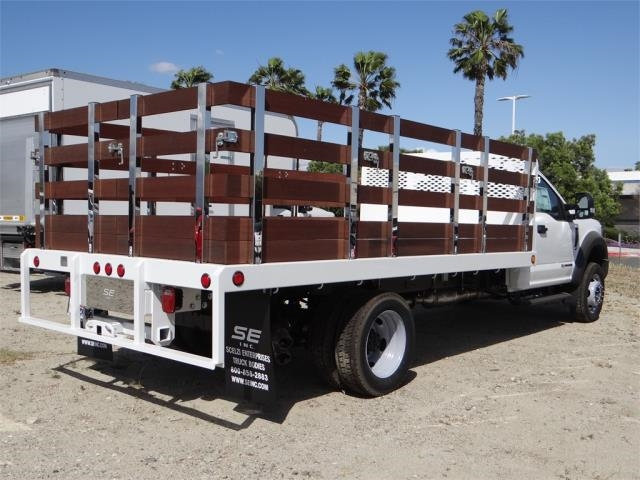 2018 F-550 Regular Cab DRW 4x2,  Scelzi Stake Bed #FJ2558 - photo 4