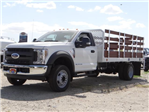 2018 F-550 Regular Cab DRW 4x2,  Scelzi Stake Bed #FJ2558 - photo 1