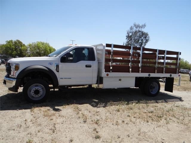 2018 F-550 Regular Cab DRW 4x2,  Scelzi Stake Bed #FJ2685 - photo 3
