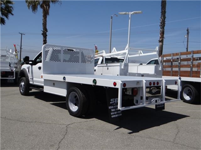2018 F-550 Regular Cab DRW 4x2,  Scelzi WFB Flatbed #FJ2772 - photo 2