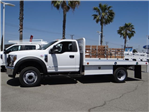 2018 F-550 Regular Cab DRW 4x2,  Scelzi WFB Flatbed #FJ2772 - photo 3