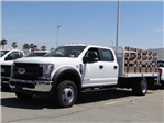 2018 F-550 Crew Cab DRW 4x2,  Scelzi Stake Bed #FJ2852 - photo 1