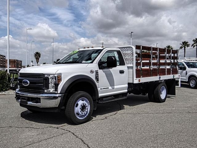 2018 F-450 Regular Cab DRW 4x2,  Scelzi Stake Bed #FJ4964DT - photo 1