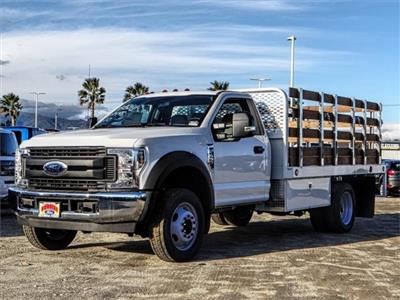 2019 F-450 Regular Cab DRW 4x2,  Scelzi WFB Stake Bed #FK0732DT - photo 1