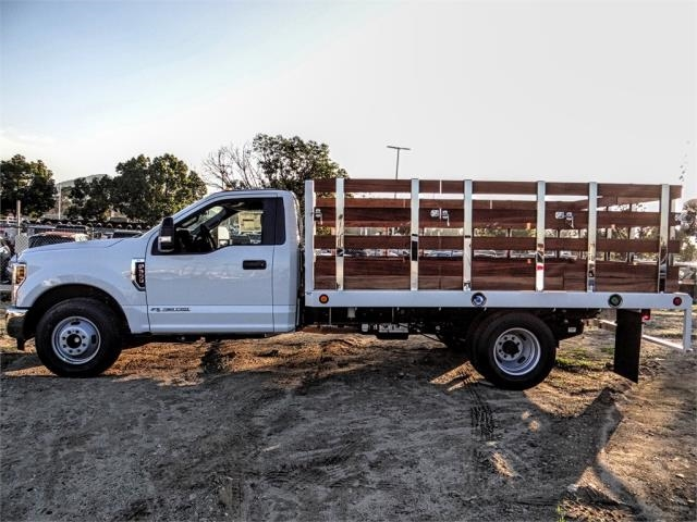 2019 F-350 Regular Cab DRW 4x2,  Scelzi Stake Bed #FK1401 - photo 3