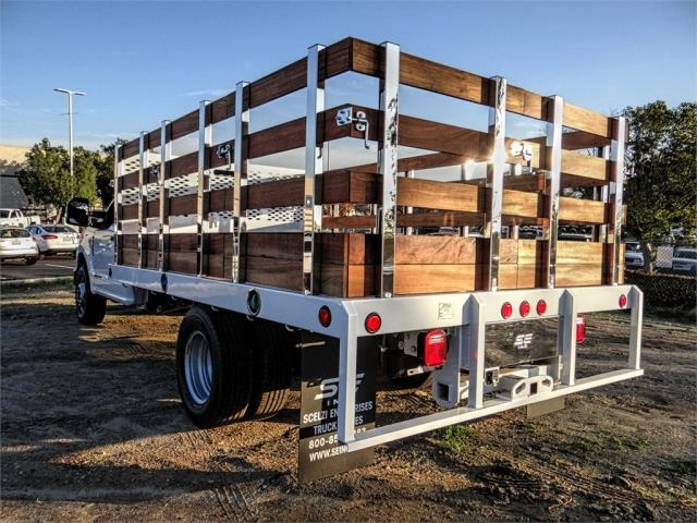 2019 F-350 Regular Cab DRW 4x2,  Scelzi Stake Bed #FK1401 - photo 2