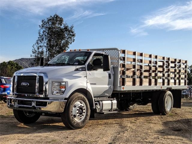 2019 F-650 Regular Cab DRW 4x2,  Scelzi SFB Stake Bed #FK1579 - photo 1