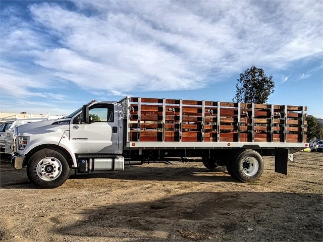2019 F-650 Regular Cab DRW 4x2,  Scelzi Stake Bed #FK1579 - photo 3
