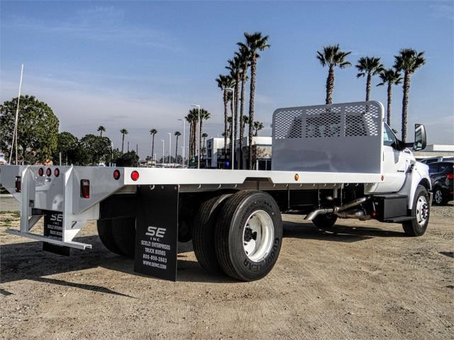 2019 F-650 Regular Cab DRW 4x2,  Scelzi Flatbed #FK1953 - photo 4