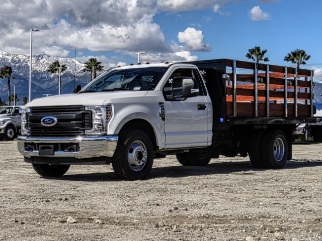 2019 F-350 Regular Cab DRW 4x2,  Harbor Stake Bed #FK2028 - photo 1