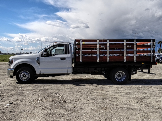2019 F-350 Regular Cab DRW 4x2,  Harbor Stake Bed #FK2028 - photo 3