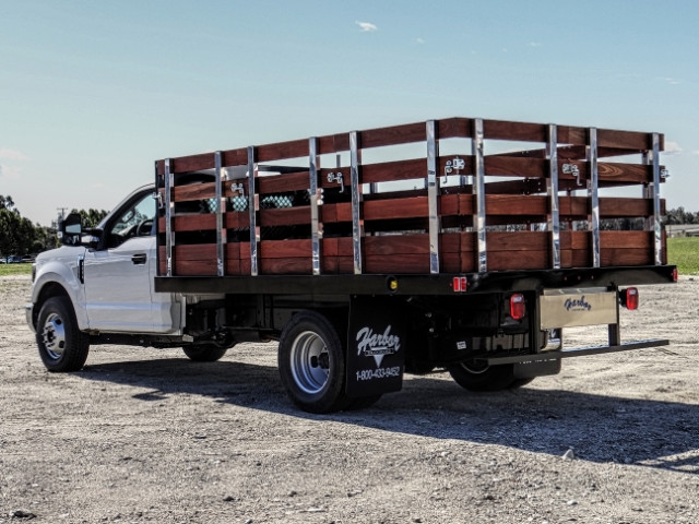 2019 F-350 Regular Cab DRW 4x2,  Harbor Stake Bed #FK2028 - photo 2