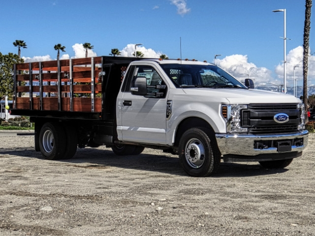 2019 F-350 Regular Cab DRW 4x2,  Harbor Black Boss Stake Bed #FK2028 - photo 8