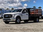 2019 F-350 Regular Cab DRW 4x2,  Harbor Black Boss Stake Bed #FK2028 - photo 1