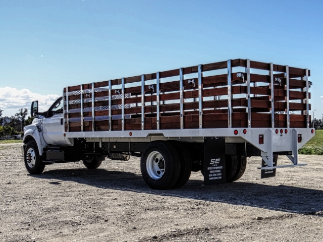 2019 F-650 Regular Cab DRW 4x2,  Scelzi Stake Bed #FK2095 - photo 2