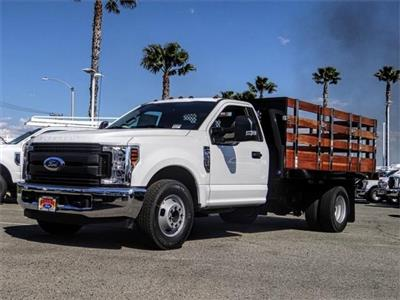2019 F-350 Regular Cab DRW 4x2,  Harbor Black Boss Stake Bed #FK2112 - photo 1