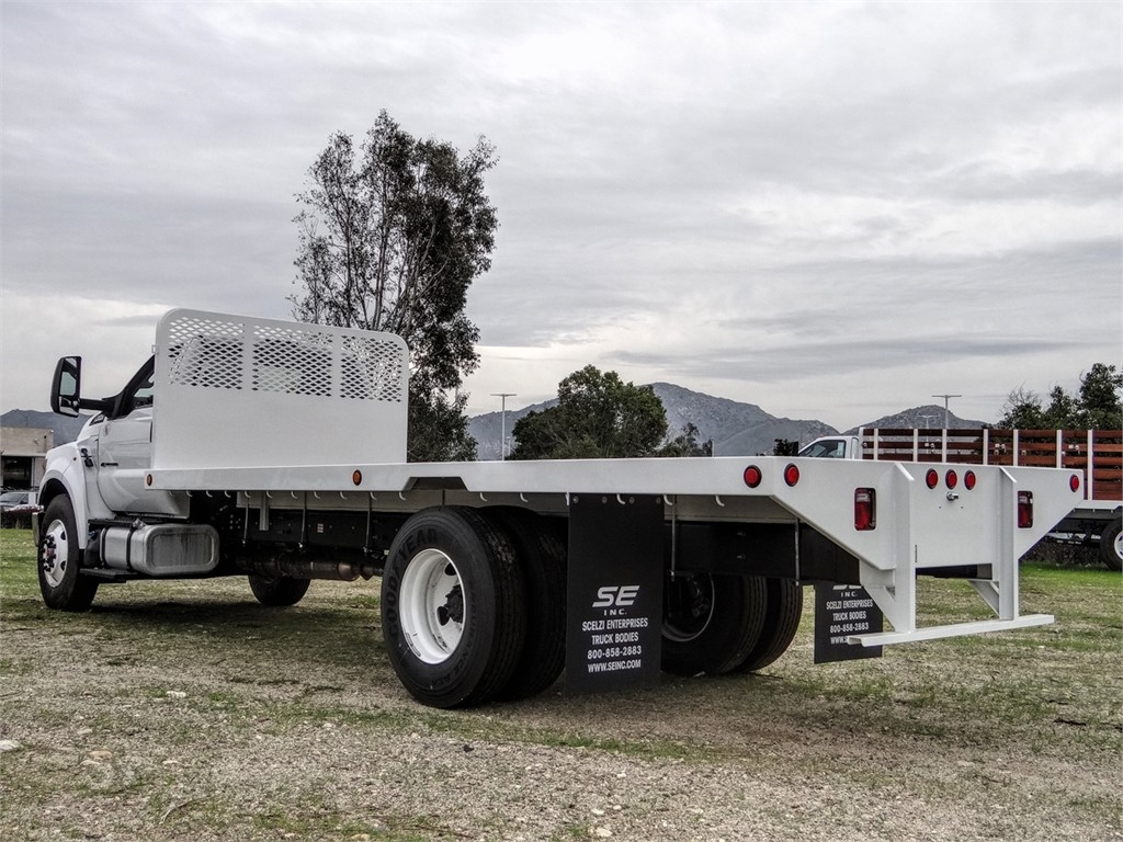 2019 F-650 Regular Cab DRW 4x2,  Scelzi Flatbed #FK2378 - photo 1