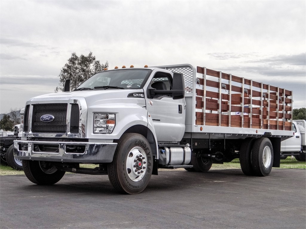 2019 F-650 Regular Cab DRW 4x2,  Scelzi Stake Bed #FK2608 - photo 1