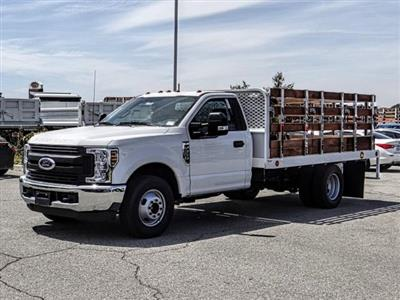 2019 F-350 Regular Cab DRW 4x2,  Scelzi Stake Bed #FK3138DT - photo 1