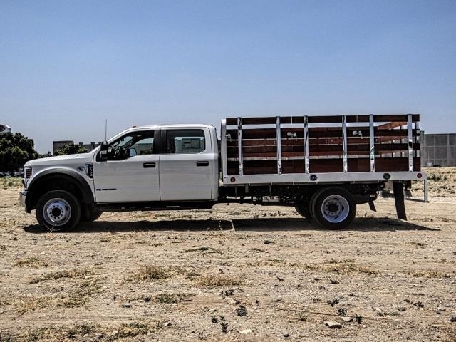 2019 F-550 Crew Cab DRW 4x2,  Scelzi WFB Stake Bed #FK3372 - photo 3