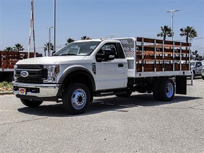 2019 F-450 Regular Cab DRW 4x2,  Scelzi WFB Stake Bed #FK3523 - photo 1