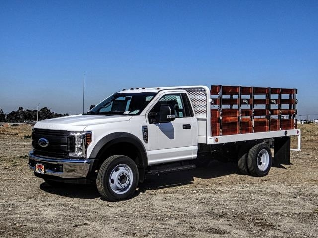 2019 F-450 Regular Cab DRW 4x2,  Scelzi Stake Bed #FK3535 - photo 1