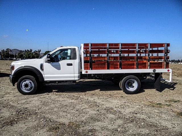 2019 F-450 Regular Cab DRW 4x2,  Scelzi WFB Stake Bed #FK3535 - photo 3
