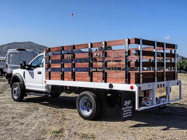 2019 F-450 Regular Cab DRW 4x2,  Scelzi WFB Stake Bed #FK3535 - photo 2