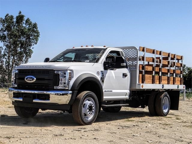 2019 F-450 Regular Cab DRW 4x2,  Scelzi Stake Bed #FK4093 - photo 1