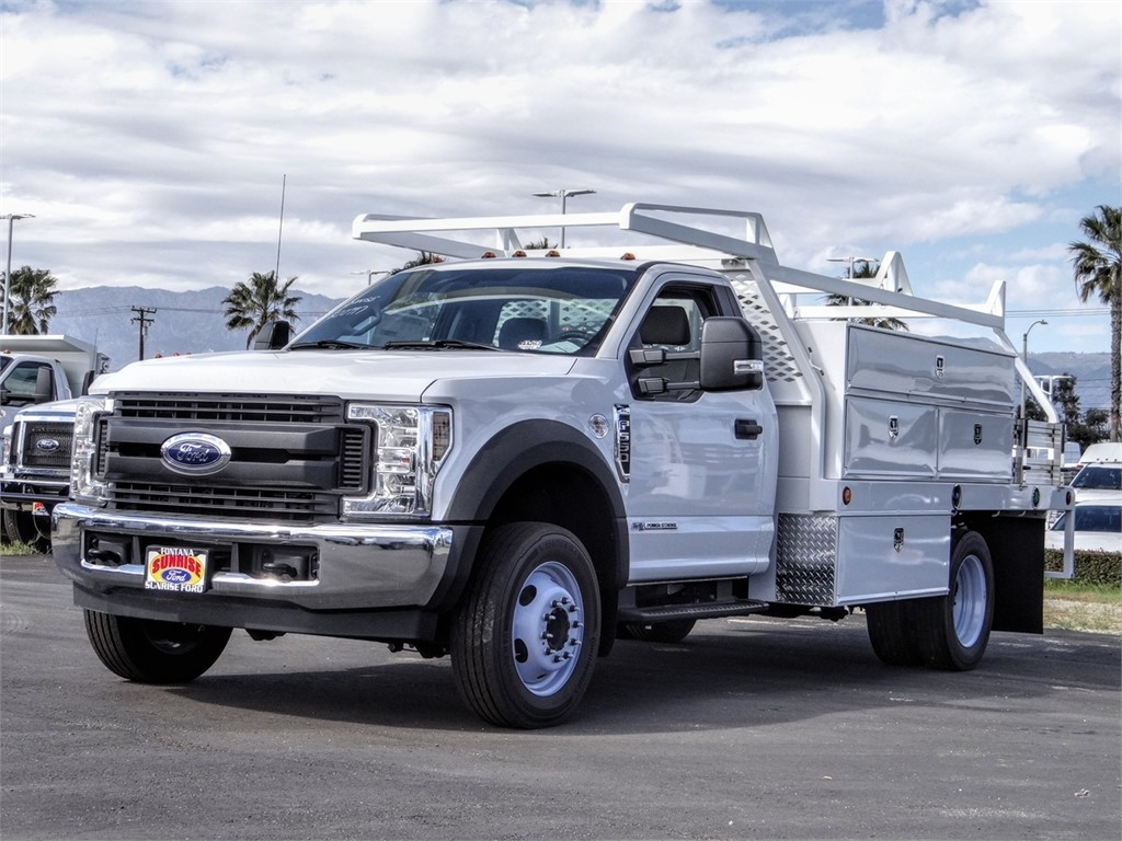 2019 F-550 Regular Cab DRW 4x2, Scelzi Contractor Body #FK4096 - photo 1