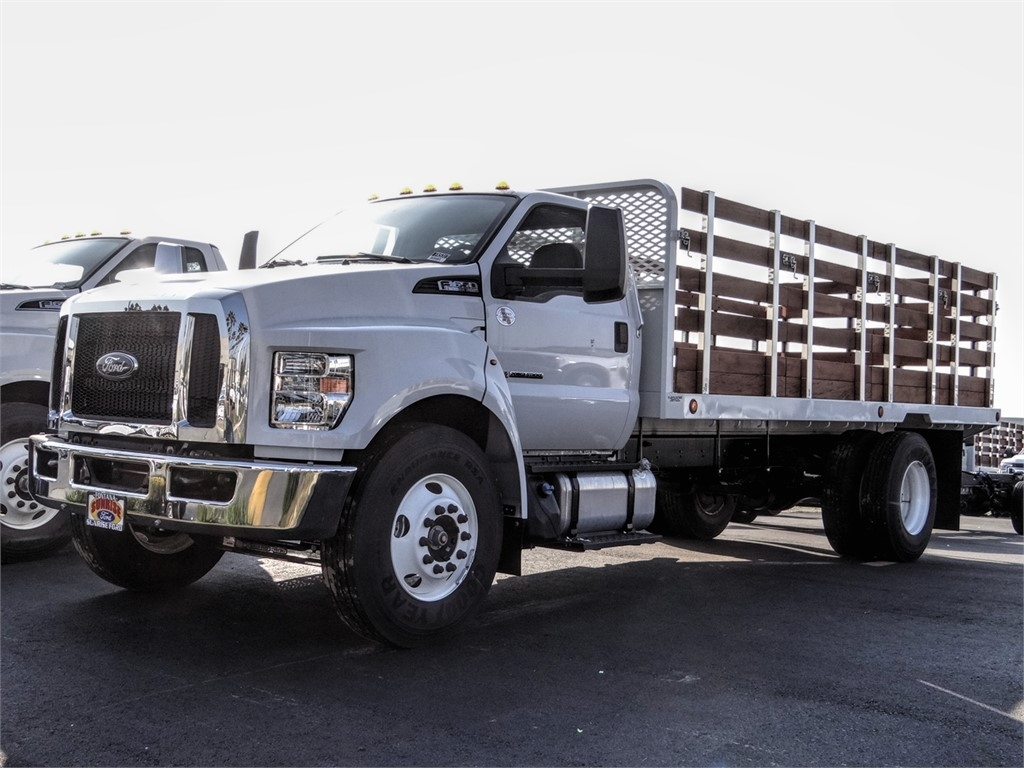 2019 F-650 Regular Cab DRW 4x2, Scelzi Stake Bed #FK5313 - photo 1