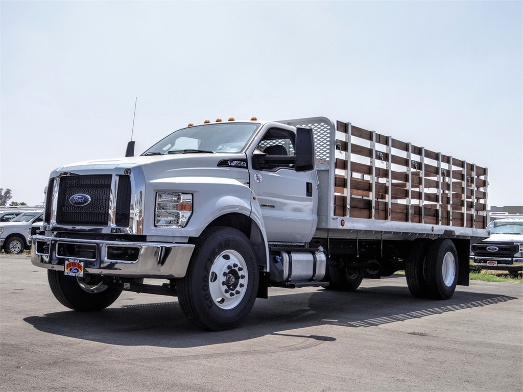 2019 F-650 Regular Cab DRW 4x2, Scelzi Stake Bed #FK5326 - photo 1