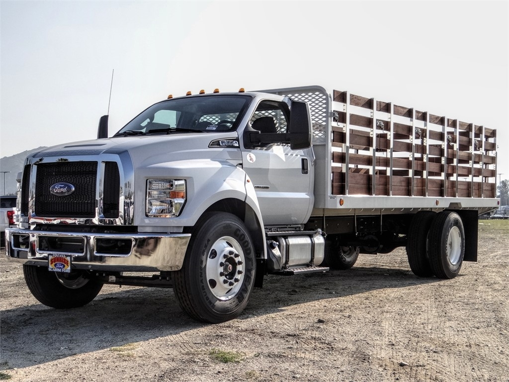 2019 F-650 Regular Cab DRW 4x2, Scelzi Stake Bed #FK5327 - photo 1