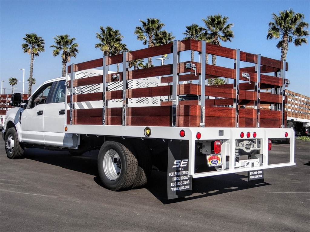2019 F-350 Crew Cab DRW 4x2, Scelzi Stake Bed #FK5345DT - photo 1