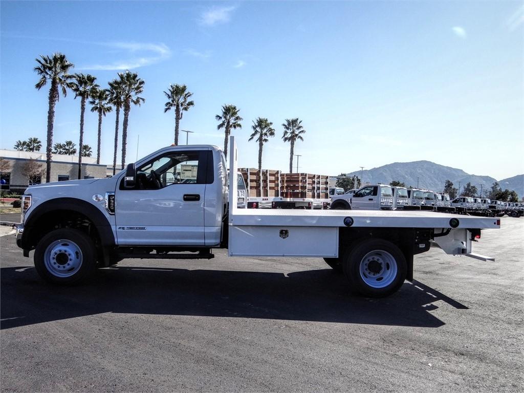 2019 F-550 Regular Cab DRW 4x2, Harbor Black Boss Flatbed #FK5367DT - photo 3